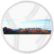 Sedona Sunset Round Beach Towel