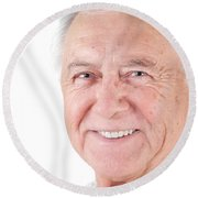 Senior Citizen Man Round Beach Towel