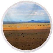 Serengeti Landscape Round Beach Towel