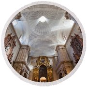Seville Cathedral Interior Round Beach Towel