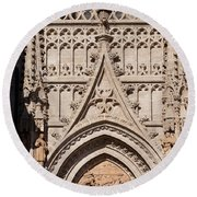 Seville Cathedral Ornamentation Round Beach Towel