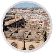 Seville Cityscape Round Beach Towel