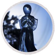 Shadows From Heaven Round Beach Towel by Sharon Cummings