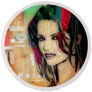 Shania Twain Collection Round Beach Towel