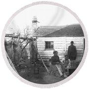 Sharecropper Family, 1900 Round Beach Towel