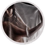 Sheer Nude Round Beach Towel