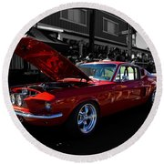 Shelby Gt 500 Mustang Round Beach Towel