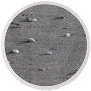 Shell Shadows Round Beach Towel