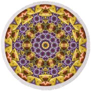 Kaleidoscope 43 Round Beach Towel