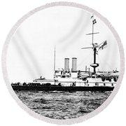 Ships Hms 'victoria Round Beach Towel