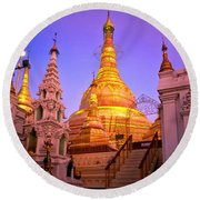 Shwedagon Paya - Yangoon Round Beach Towel