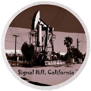 Signal Hill Round Beach Towel