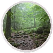 Silence Of The Forest Round Beach Towel