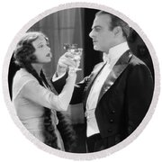 Silent Film Still: Drinking Round Beach Towel