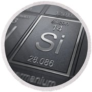 Silicon Chemical Element Round Beach Towel