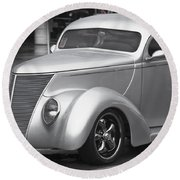 Silver Ford Round Beach Towel