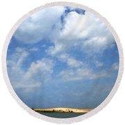 Silver Lake Sand Dunes Round Beach Towel