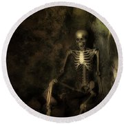 Skeleton Round Beach Towel