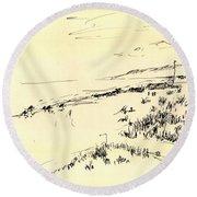 Sketch Round Beach Towel