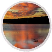 Skilak Lake, Alaska, The Aleutian Round Beach Towel