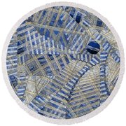 Skylight Round Beach Towel
