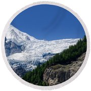 Snow Glacier Round Beach Towel