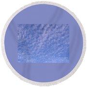 Soft Clouds In The Blue Sky Round Beach Towel