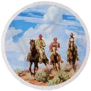 Sons Of The Desert Round Beach Towel