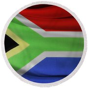 South African Flag  Round Beach Towel