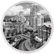 South Vancouver Bc Canada Round Beach Towel