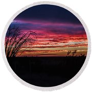 Southwest Sunset Round Beach Towel