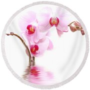 Spa Flowers Round Beach Towel