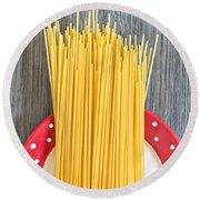 Spaghetti  Round Beach Towel by Tom Gowanlock