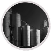 Spangle Grain Elevator Round Beach Towel