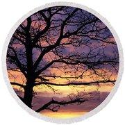 Spectacular Sunset Epsom Downs Surrey Uk Round Beach Towel
