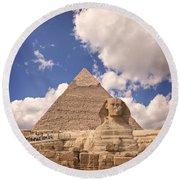Sphinx Round Beach Towel