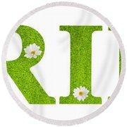 Spring Daisies Round Beach Towel