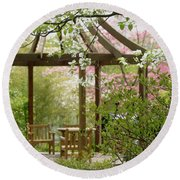 Spring Seating Round Beach Towel