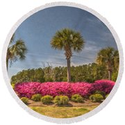 Spring Time In Charleston Round Beach Towel