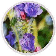Spring Wild Flower Round Beach Towel
