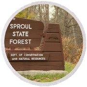 Sproul State Forest Round Beach Towel
