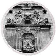 St Jeronimo Door Granada Cathedral Round Beach Towel