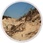 St Joseph Sand Dunes Round Beach Towel