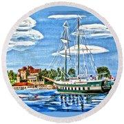 St Lawrence Waterway 1000 Islands Round Beach Towel