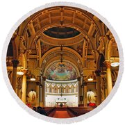St. Leonard's Church....boston Round Beach Towel