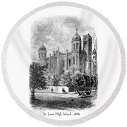 St. Louis High School - 1874 Round Beach Towel