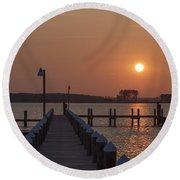 St Marys County Maryland Sunrise Round Beach Towel