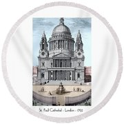 St. Paul Cathedral - London - 1792 Round Beach Towel