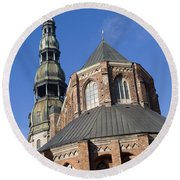 St. Peter's Church Riga Round Beach Towel