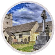 St Sannans Church Bedwellty 2 Round Beach Towel